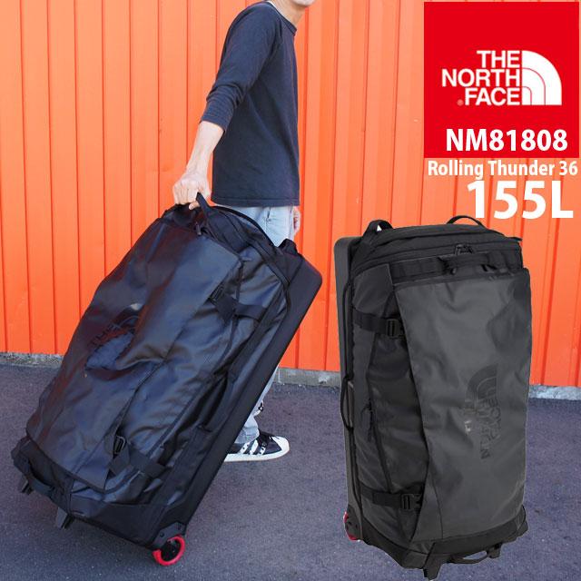 ザ・ノースフェイス メンズ レディース バッグ 155L NM81808 ローリングサンダー36インチ キャリーバッグ キャリーバック ブラック トラベル 大型 遠征 旅行 出張 THE NORTH FACE バック BAG evid
