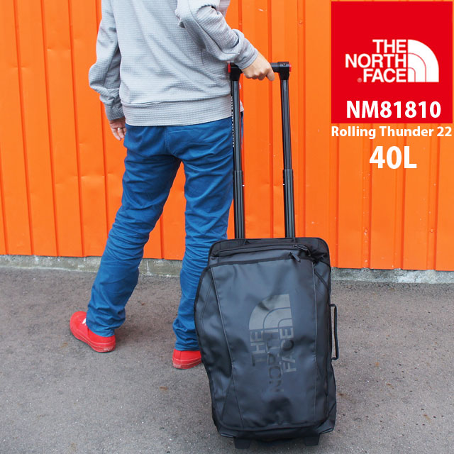 ザ・ノースフェイス バッグ メンズ レディース NM81810 40L ローリングサンダー22インチ キャリーバッグ ウィーラーバッグ 小型 旅行 出張 遠征 アウトドア THE NORTH FACE evid