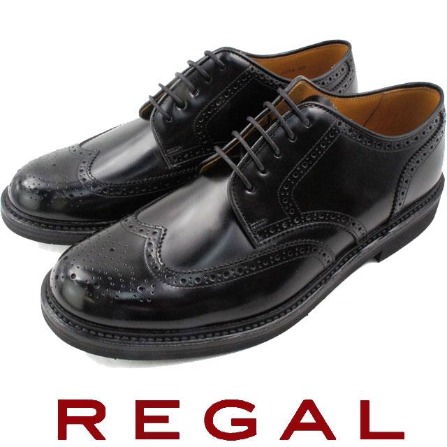 【送料無料】(一部地域除く) リーガル JU14 BREGAL メンズ フォーマル ビジネス ウイングチップ BLACK ブラックevid