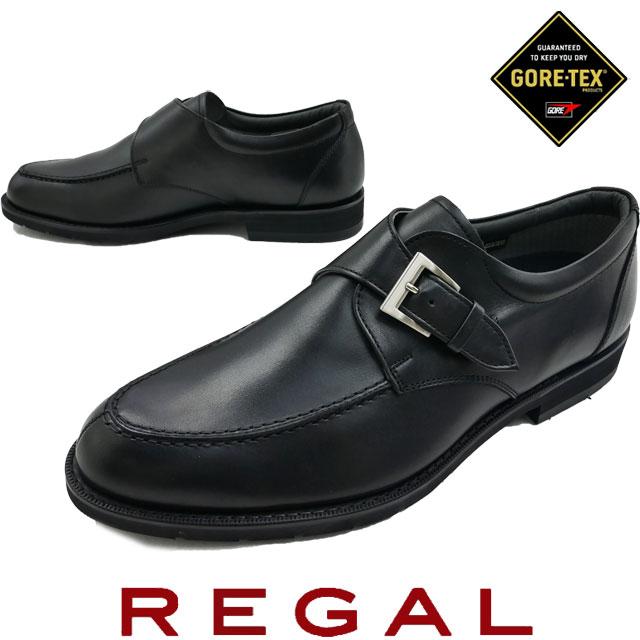 【送料無料】REGAL リーガル メンズ ビジネスシューズ 34NR 革靴 紳士靴 モンクストラップ フォーマル 日本製 ゴアテックス ダークブラウン evid o-sg |4