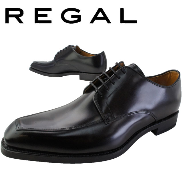 REGAL リーガル ビジネスシューズ メンズ 【送料無料】46RR 革靴 紳士靴 日本製 メイドインジャパン フォーマル スワールトゥ ブラック