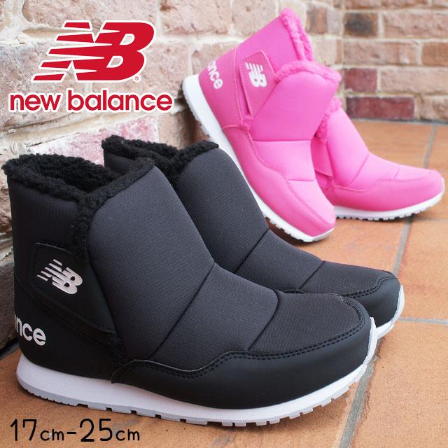 ニューバランス 男の子 女の子 子供靴 キッズ ジュニア ブーツ KB996S 撥水 ショートブーツ ウインターブーツ ブラック ピンク new balance evid
