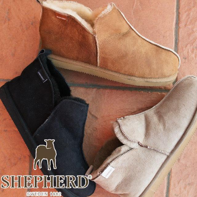 シェパード ムートンブーツ メンズ S3601 【送料無料】(一部地域除く) アンクルブーツ ショート丈 シープスキンブーツ SHEPHERD evid
