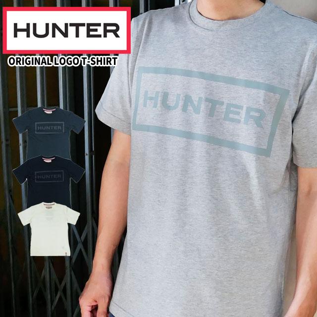 ハンター オリジナル ロゴ Tシャツ メンズ MRJ4067JAS 半袖 トップス カットソー 綿 コットン100% ラウンドネック 丸首 ブラック ホワイト ネイビー HUNTER evid