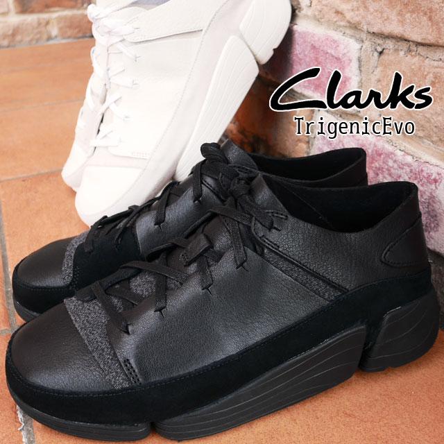 【送料無料】クラークス Clarks トライジェニック イーヴォ カジュアルシューズ メンズ 26128326 26128331 ローカット スニーカー 紐靴 ブラック ホワイト evid
