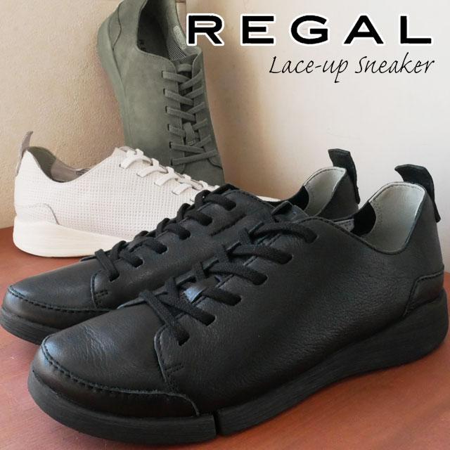 【送料無料】REGAL リーガル ローカットスニーカー 本革 レザー レディース F70L 痛くない 歩きやすい レースアップシューズ ぺたんこ靴 黒 ブラック 白 ホワイト グレー evid |4