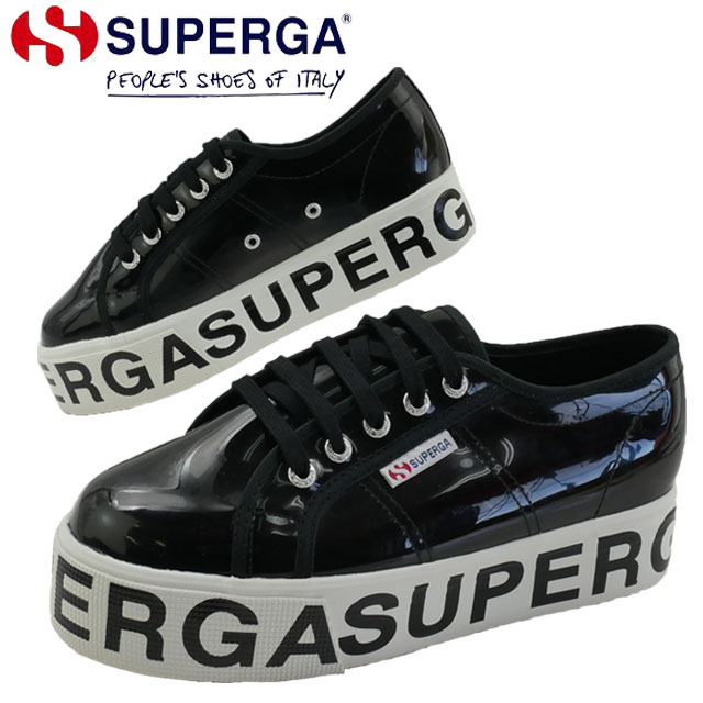 【送料無料】スペルガ SUPERGA スニーカー レディース 2790 COTTRANSPLETTERINGW ローカット 厚底 プラットフォーム カジュアルシューズ ブラック 黒 靴 S00GT80 evid