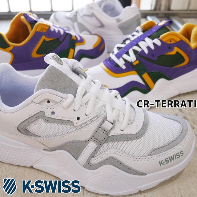 【送料無料】ケースイス K-SWISS 厚底スニーカー レディース CR-テラッティ ローカット カジュアルシューズ ダッドシューズ 靴 101 ホワイト 白 930 ホワイト/グリーン 96600 evid