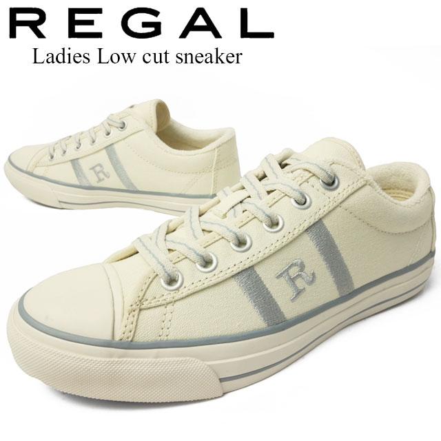【送料無料】REGAL リーガル スニーカー レディース ローカット カジュアルシューズ キャンバススニーカー 靴 ホワイト/シルバー BE58 evid |4