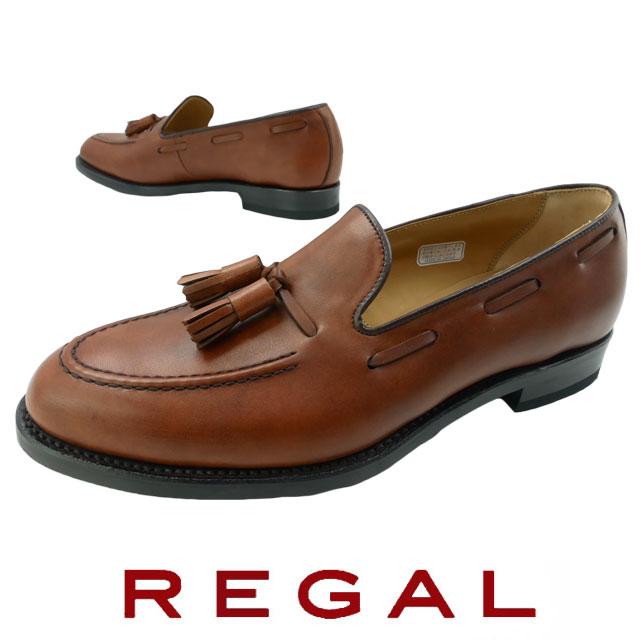 【送料無料】REGAL リーガル タッセル スリッポン メンズ 靴 紳士靴 ドライビングシューズ ビジネスシューズ ビジカジ 撥水 日本製 メイドインジャパン ブラウン 12VR evid |4