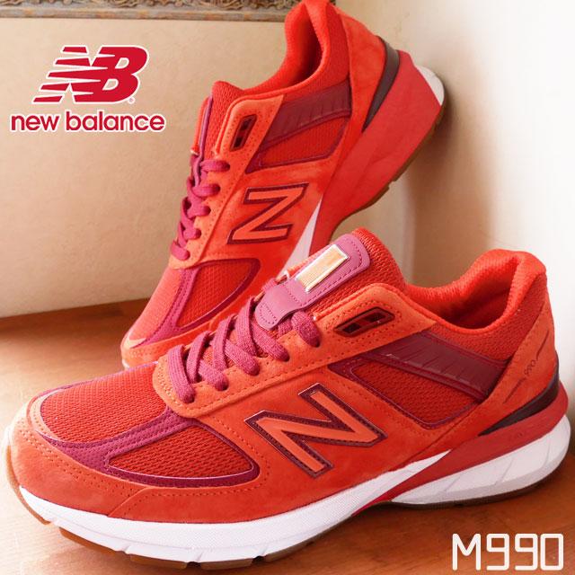 ニューバランス メンズ スニーカー M990 ワイズD リミテッド 限定モデル メイドインUSA 靴 MS5 レッド new balance 【送料無料】 evid