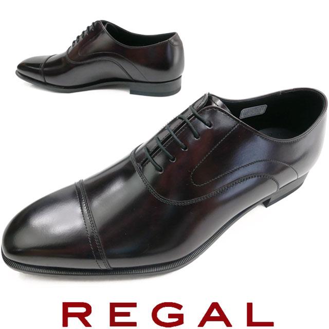 リーガル メンズ ビジネスシューズ ドレスシューズ 紳士靴 革靴 メイドインジャパン 日本製 21UR ワイン REGAL 【送料無料】 父の日 ギフト evid |4