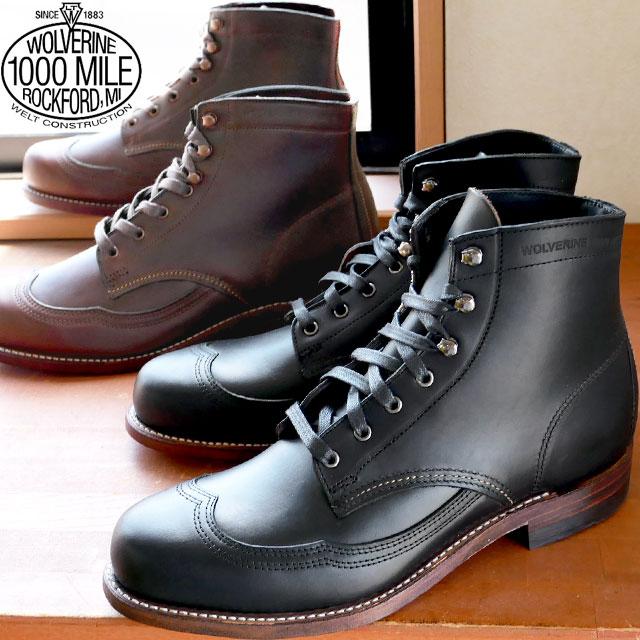 【送料無料】ウルヴァリン 靴 ADDISON BOOT BLACK・BROWN全2色 ウルバリン WOLVERINEアディソンブーツ ブラック・ブラウン メンズ BOOTS ワークブーツ evid