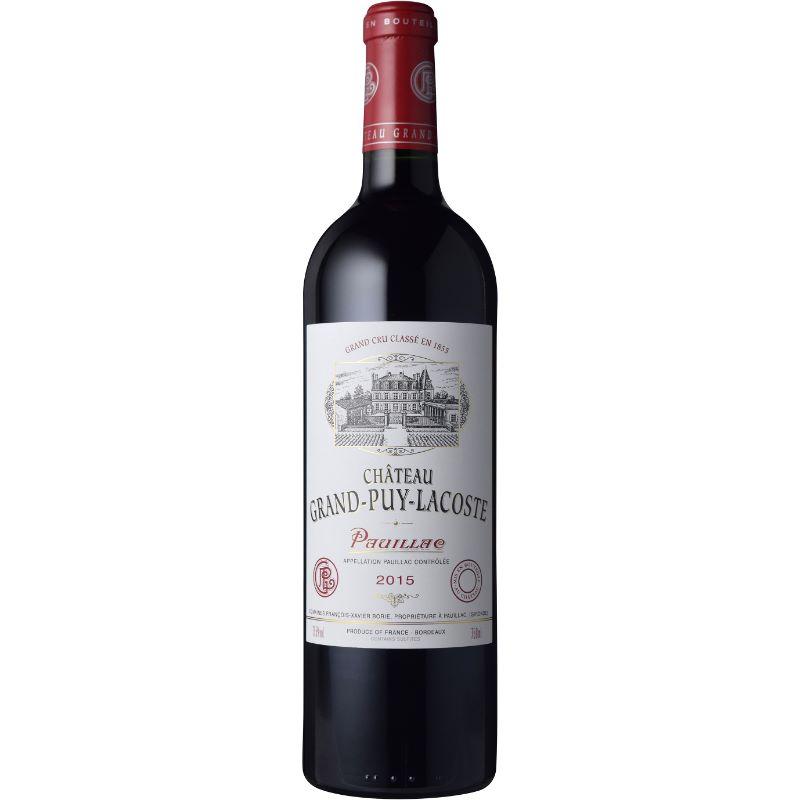 【あす楽】シャトー・グラン・ピュイ・ラコスト 2015 750ml フランス ボルドー オーメドック ポイヤック AOC 第5級 ALC度数13.5% 赤ワイン フルボディ カベルネソーヴィニヨン 飲み頃温度17℃ メドック ワインアドヴォケイト92点