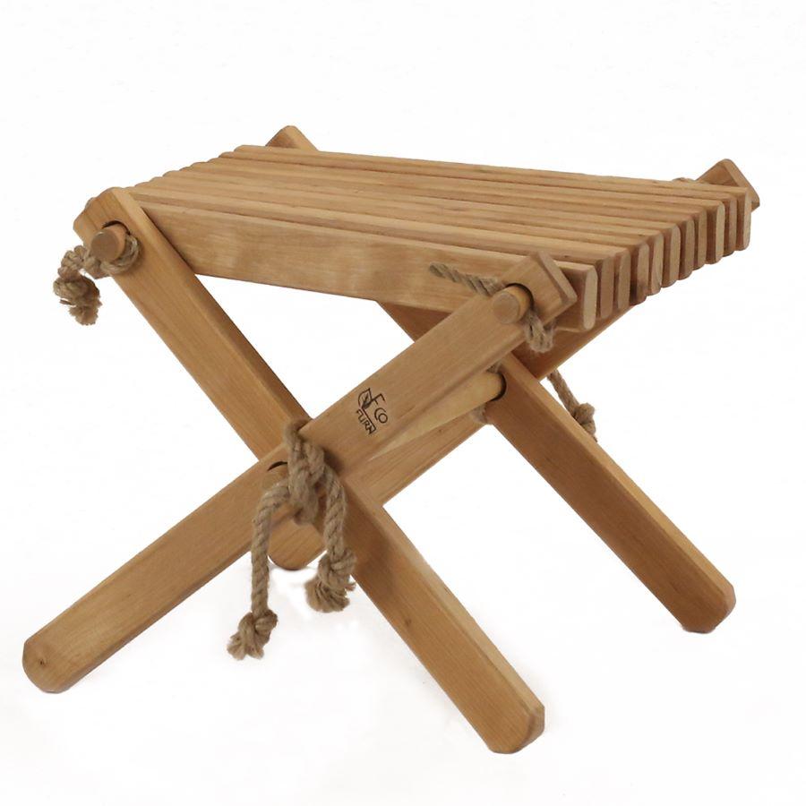 【新入荷】【送料無料】EcoFurn エコファーン Ottoman オットマン SideTable サイドテーブル アルダー 室内 アウトドア どちらでも使える FSC トレーサビリティ サステナブル 厳選素材 北欧産 無垢材 ロープ シンプル スタイリッシュ デザイン 椅子