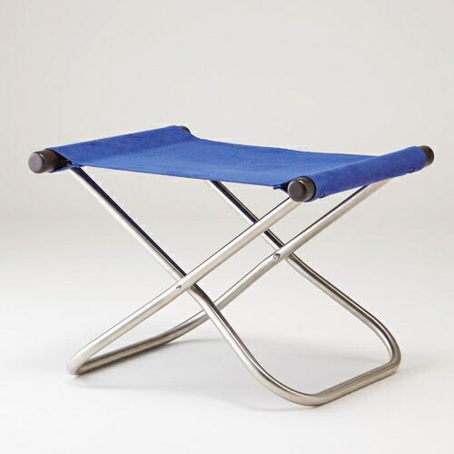 【新入荷】【送料無料】Nychair X ニーチェアエックス オットマン ダークブラウン ブルー W50cm D42cm H35cm SH33cm 1970年発売 ロングセラー 新居猛 デザイナーズチェア シンプル 機能的 グッドデザイン賞 綿 スチール 天然木 日本製