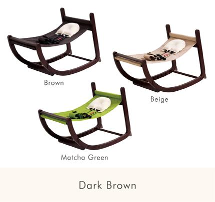 ファルスカ スクロールチェア プラス ダークブラウン×抹茶グリーン 北欧 おしゃれ ベビーチェア バウンサー ベビーベッド 生まれたその日 大人になっても座れる 一生モノの椅子 新生児 シンプル 暮らしの道具 長く使える SG耐荷重試験合格 SG転倒試験合格