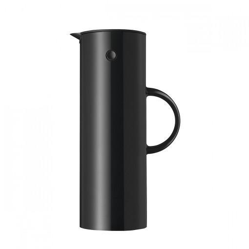 Stelton EM77 バキュームジャグ1L ブラック 世界中 ベストセラー 二重構造 ガラスボトル 保温効果 保冷効果 シンプル デザイン 北欧 キッチン ダイニング エリック・マグヌッセン デンマーク ステルトン