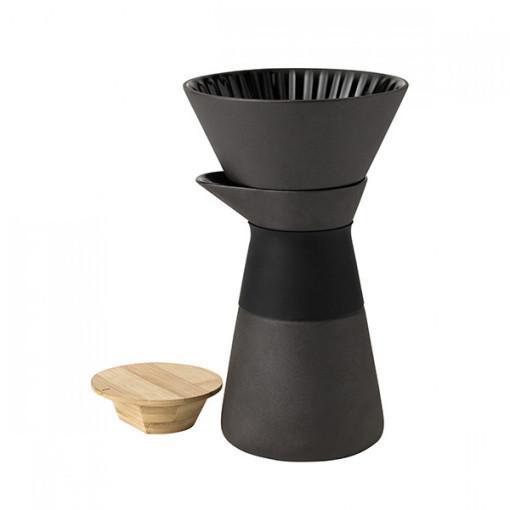 Stelton THEO コーヒーメーカー 北欧 アジア 融合 テオシリーズ ストーンウェア 竹 独特の素材感 1~2人分 ゆっくり カフェタイム フランシス・ケイオーウェット 北欧 デザイン スタイリッシュ 上品 シンプル キッチン ダイニング ステルトン カラー