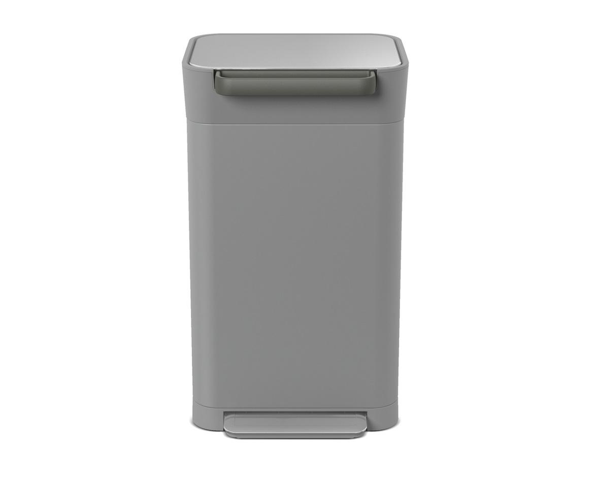 【新入荷】【正規販売店】【送料無料】JosephJoseph ジョセフジョセフ クラッシュボックス 30L ペブル(ライトグレー) ダストボックス ゴミ箱 おしゃれ インテリア グッドデザイン賞 衛生的 ゴミを1/3に圧縮 ゴミ捨ての回数が減る 脱臭フィルター付 ゴミ袋3枚付