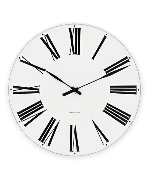 ARNE JACOBSEN Wall Clock Roman 160mm アルネヤコブセン 壁掛け時計 ローマン オーフス市庁舎 ウォールクロック 独特 立体感 トータルデザイン 完璧主義 壮大 エレガンス 北欧 ギフト
