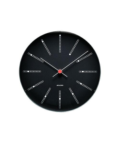ARNE JACOBSEN WALL CLOCK BANKERS BLACK 290mm アルネヤコブセン 壁掛け時計 バンカーズ ブラック 実用性 シンプル 存在感 インテリア 歴史的作品 最高傑作 デンマーク国立銀行 トータルデザイン 北欧 家具 雑貨 ギフト
