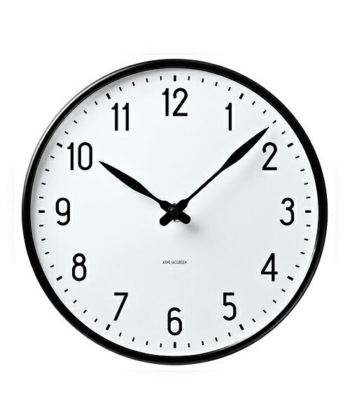 ARNE JACOBSEN Wall Clock Station 210mm アルネヤコブセン 壁掛け時計 ステーション 1943年 デンマーク 鉄道 視認性 アラビアインデックス 機能美 バウハウス デザイン Lauritz Knudsen シンプル 北欧 ギフト