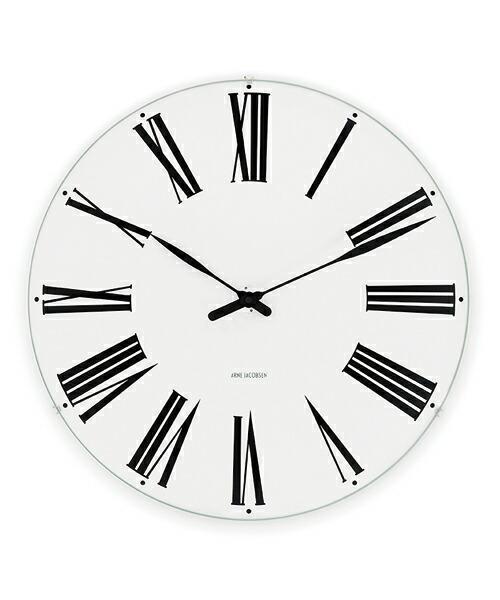 ARNE JACOBSEN Wall Clock Roman 480mm アルネヤコブセン 壁掛け時計 ローマン オーフス市庁舎 ウォールクロック 独特 立体感 トータルデザイン 完璧主義 壮大 エレガンス 北欧 ギフト