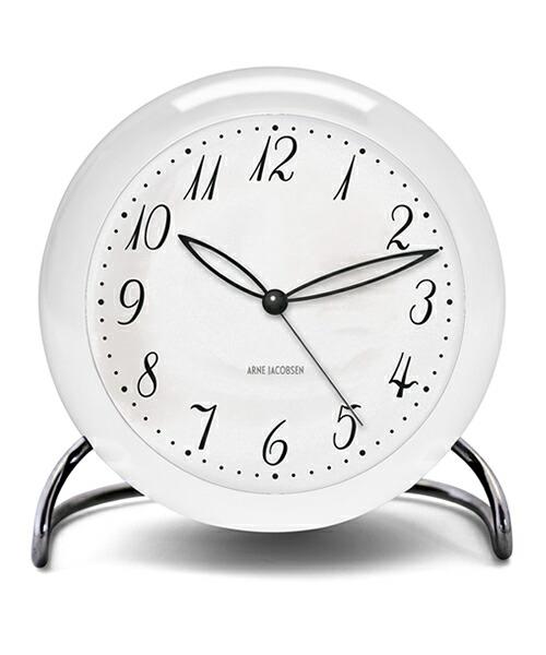 ARNE JACOBSEN TableClock LK アルネヤコブセン 置き時計 テーブルクロック 現代仕様 モディファイ LEDライト ムーブメントセンサー スヌーズ機能 単3電池 アラーム プロダクト シンプル モダニズム 北欧 ギフト