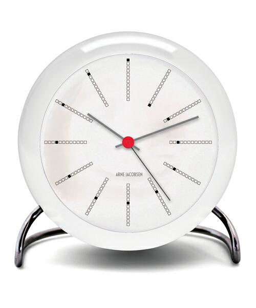 ARNE JACOBSEN TableClock Bankers アルネヤコブセン 置き時計 テーブルクロック バンカーズ 現代仕様 モディファイ LEDライト ムーブメントセンサー スヌーズ機能 単3電池 アラーム プロダクト シンプル モダニズム 北欧 ギフト