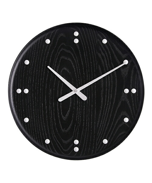 Finn Juhl Wall Clock Black 782 フィンユール 壁掛け時計 ブラック ミッドセンチュリー 北欧 デザイン 家具 建築家 存在感 デンマーク 家具の彫刻家 アッシュ 美しい年輪 安定性 木製雑貨 ギフト