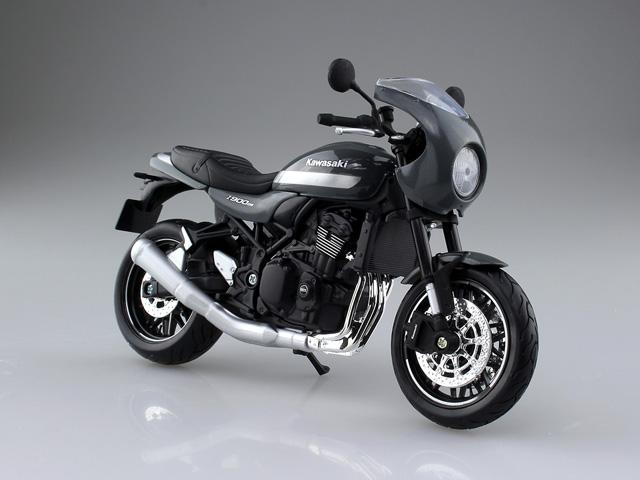 アオシマ文化教材社 1 12 モーターサイクル 完成品バイク 安値 カフェ パールストームグレー Z900RS 大規模セール KAWASAKI