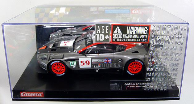 卡雷拉阿斯顿马丁 DBR9 团队摩德纳 No59 23785 纸牌数字 1 24 Carrera 插槽车数字