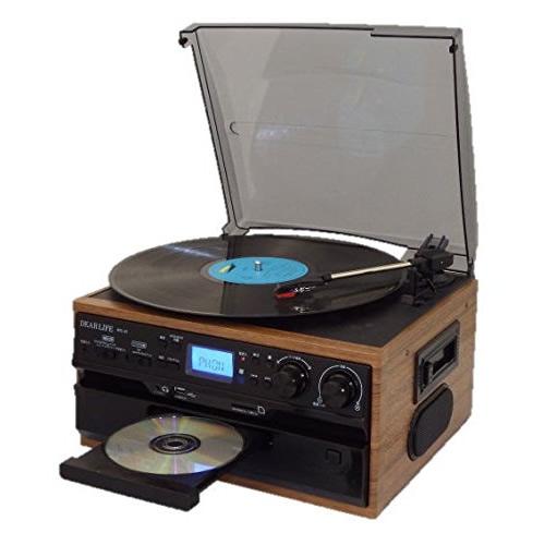 キャッシュレス5%還元 ★100円クーポン配布★ レコード CD ラジオ&カセット 搭載多機能プレーヤー RTC-29 ドーナッツ盤用アダプタ付き カセットテープ再生 EP/SP/LP盤再生 MP3録音可能