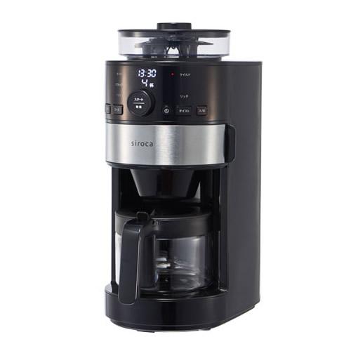 ★100円クーポン配布中★ シロカ siroca コーン式全自動コーヒーメーカー SC-C111 コーヒーマシン 全自動コーヒーメーカー SCC111 コーヒーミル内臓 タイマー予約機能 豆から挽きたてコーヒー