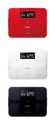 Omron Omron weight body composition Analyzer HBF-254C body scan 3 bonus scales digital scales body fat percentage total red white black HBF254C HBF-254C-R HBF-254C-W HBF-254C-BK