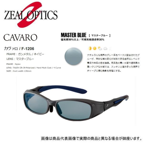 【ジールオプティクス】(3) F-1203 CAVARO(カヴァロ) ガンメタル/ネイビー:マスターブルー 【即納可能】