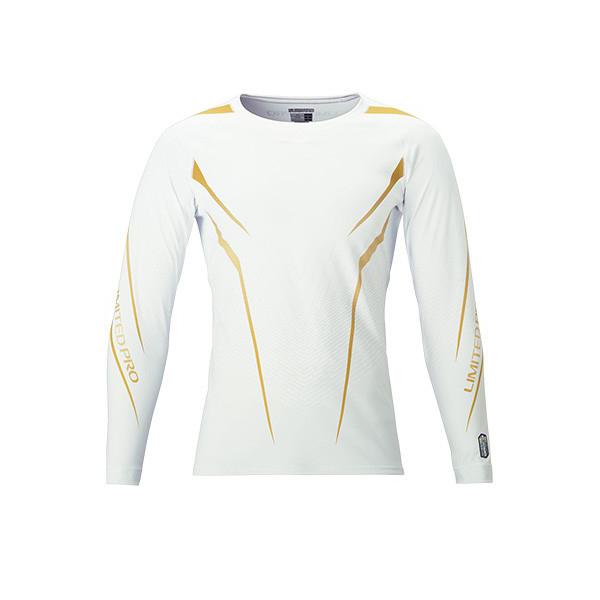 【シマノ】 サンプロテクション ロングスリーブシャツ 2XL IN-071R LIMITED PRO ホワイト