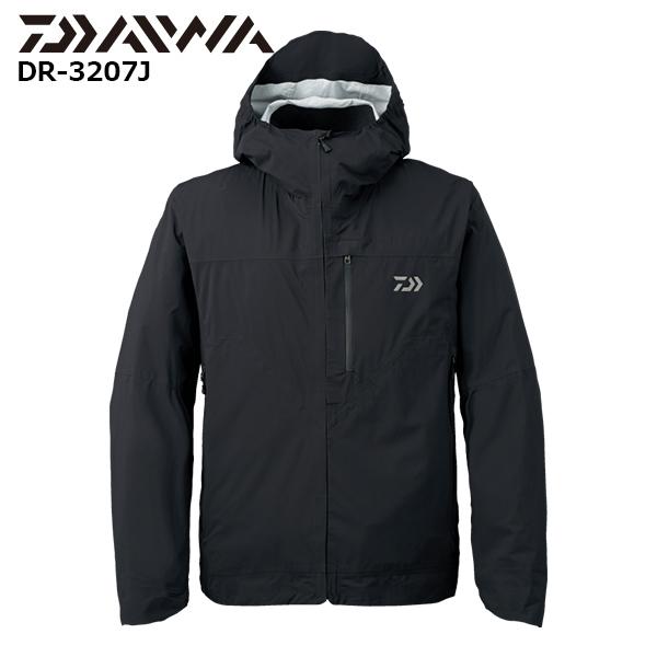 【即納可能】【DAIWA ダイワ】 グローブライド 17 DR-3207J レインマックス® ポケッタブルレインジャケット ブラック:XL