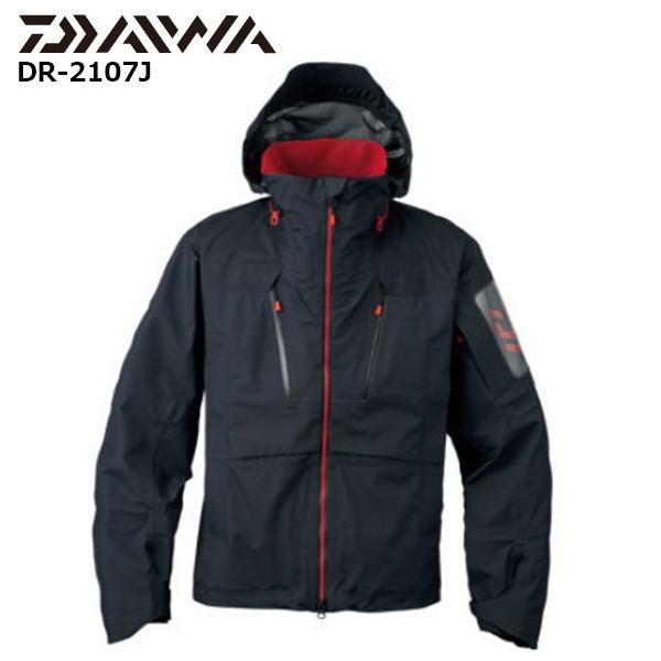 【即納可能】【DAIWA ダイワ】 グローブライド 17 DR-2107J レインマックス® オールウェザーショートレインジャケット ブラック:L