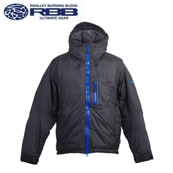 【即納可能】【在庫処分価格!】【リバレイ RBB】 8671 オールウェザーダウンジャケット:ブラック×ブルー L・LL