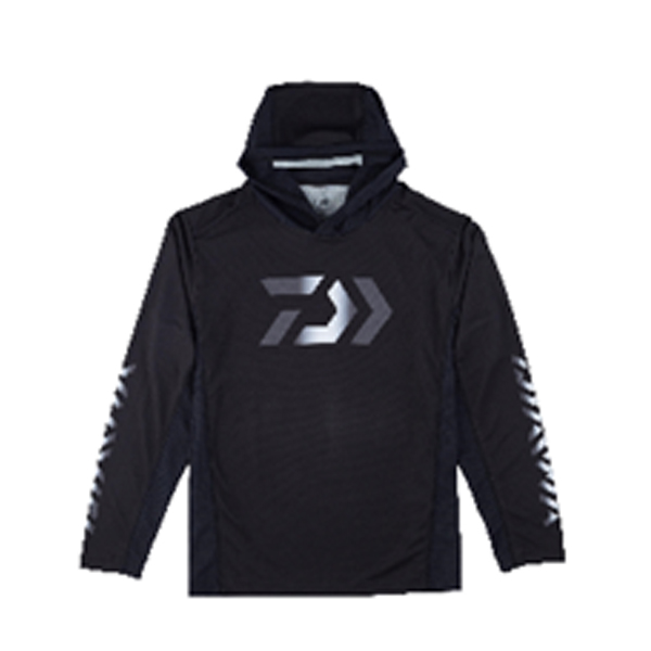 【26日までポイント5倍】【ダイワ】 DE-37009 フーディーロングスリーブ ゲームシャツ ブラック L 2019SS