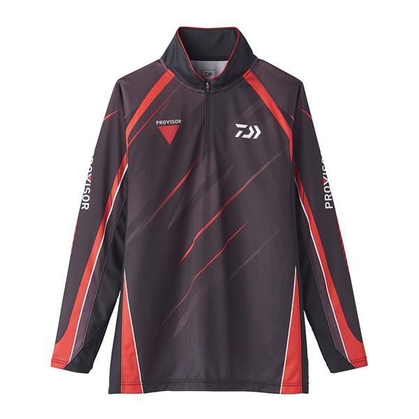 ダイワ '20 プロバイザー ウィックセンサー ジップアップ メッシュシャツ DE-74020 M ブラック 2020春夏 (G2) [90]