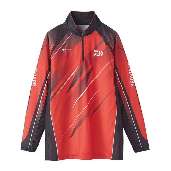 ダイワ '20 プロバイザー ウィックセンサー ジップアップ メッシュシャツ DE-74020 2XL レッド 2020春夏 (G2) [90]