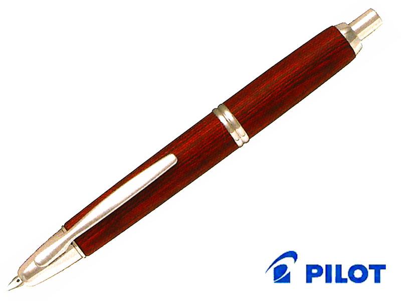 【万年筆】Pilot パイロット万年筆 キャップレスCapless 木軸 FC-25SKブラック/ディープレッドペン先:EF/F/M