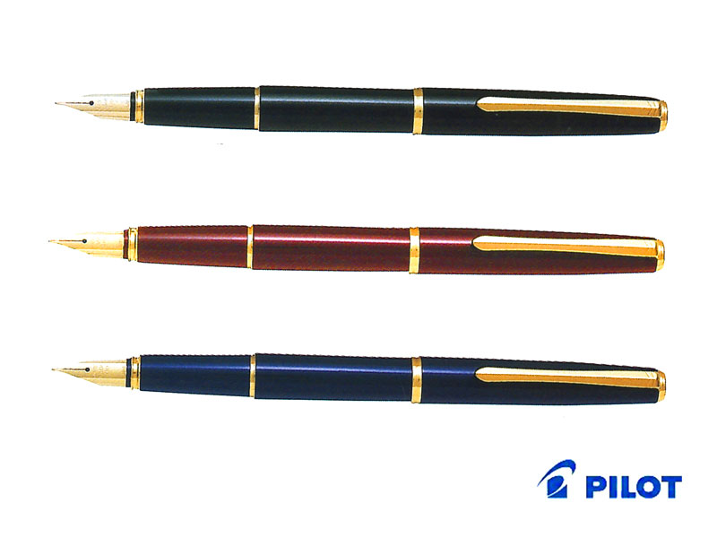 【万年筆】Pilot パイロット万年筆 デラックス漆 FD-15SRブラック/ディープレッド/ダークブルーペン先:F/M
