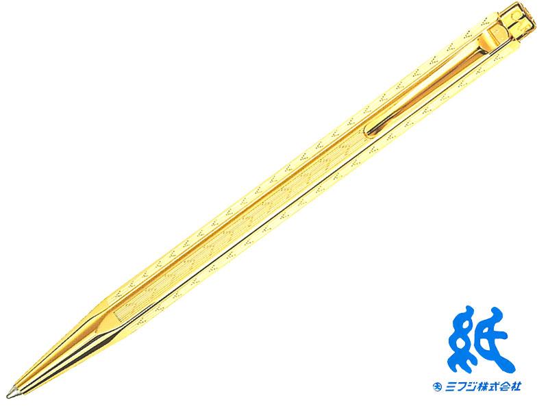 【ボールペン】CARAND'ACHE カランダッシュ Ecridor CollectionエクリドールコレクションChevron シェブロン ゴールド 0898-208ボールペンゴールドプレート