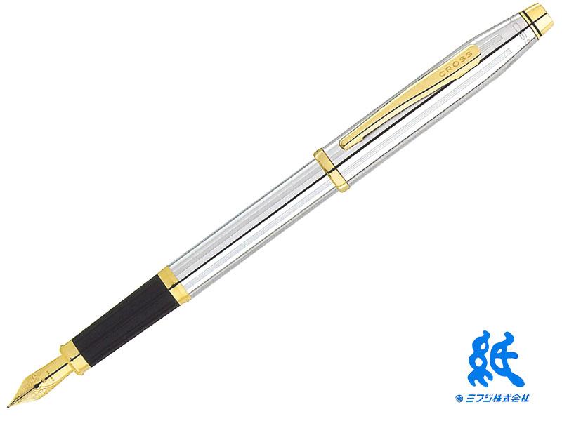 【万年筆】CROSS クロスCENTURYII センチュリーII#3309メダリストステンレスペン先23金ゴールドプレート F・M
