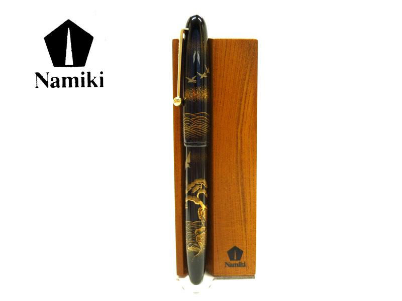 【万年筆】NAMIKI ナミキ研出平蒔絵波と千鳥B太字