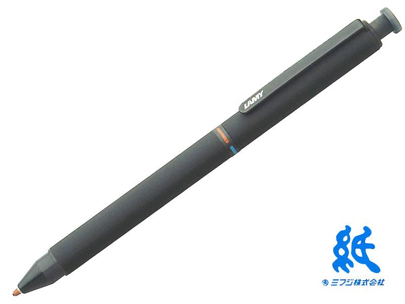 【ペンシル+ボールペン】LAMYラミー Lamy tri penラミー トライペン stトライペン L746 マットブラック ペンシル(0.5mm)+ボールペン2色(レッド・ブルー)